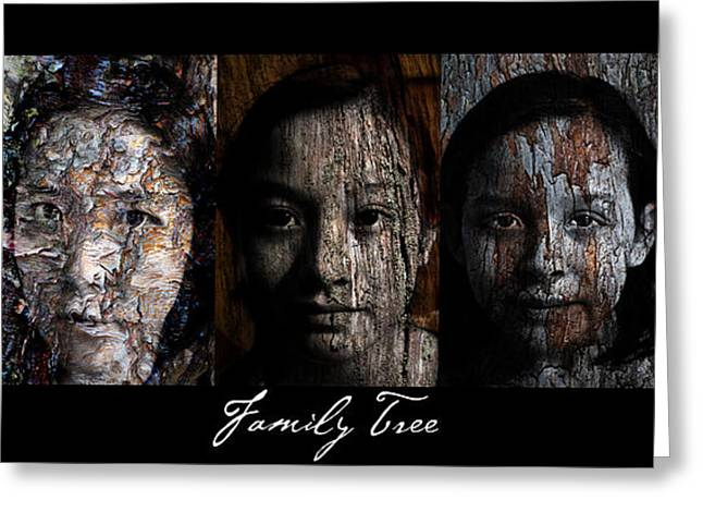 Family Tree Greeting Card by Christopher Gaston
