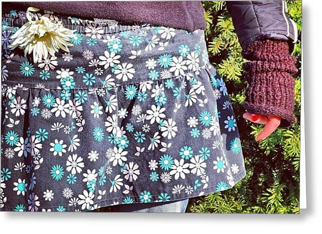 Fashion And Nature - Floral Skirt Greeting Card by Matthias Hauser