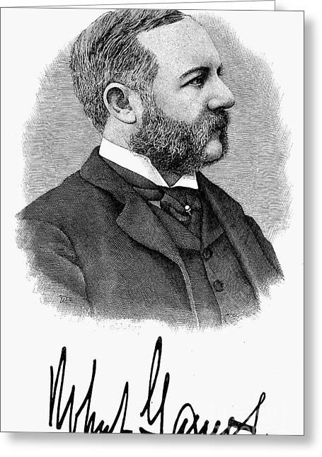 Fashion: Bearded Man, 1896 Greeting Card by Granger