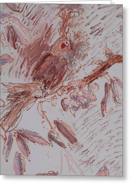 Feather Greeting Card by Iris Gill