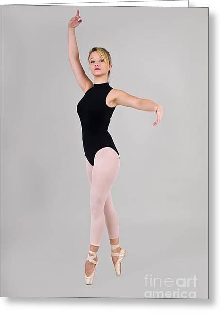 Female Dancer Greeting Card by Ilan Rosen