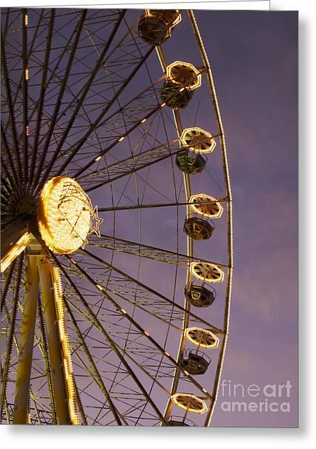 Ferris Wheel Greeting Card by Bernard Jaubert