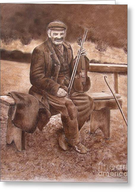 Fiddler Greeting Card
