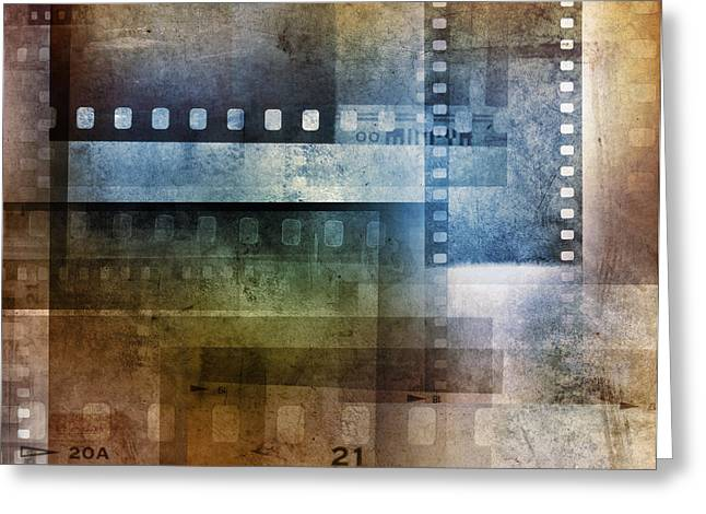 Film Negatives Greeting Card by Les Cunliffe