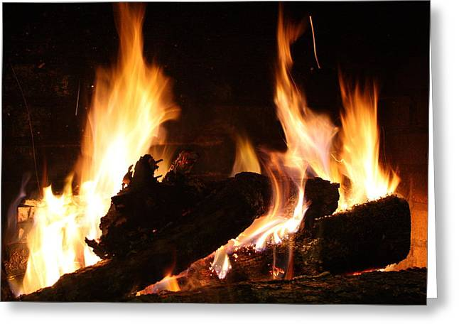 Fireplace Greeting Card by Ginger Barritt