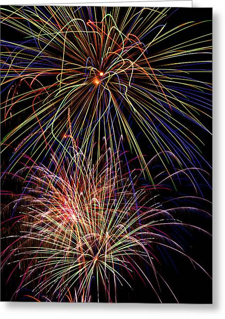 Fireworks Celebration Greeting Card
