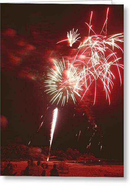 Fireworks Display Greeting Card by Magrath Photography