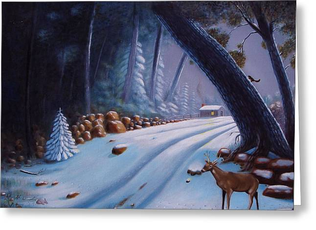 First Snow  Greeting Card by Gene Gregory
