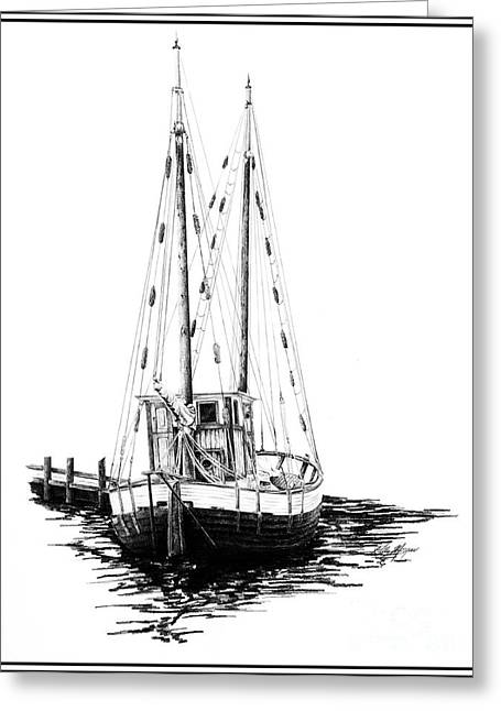 Fishing Boat Greeting Card by Kelly Morgan