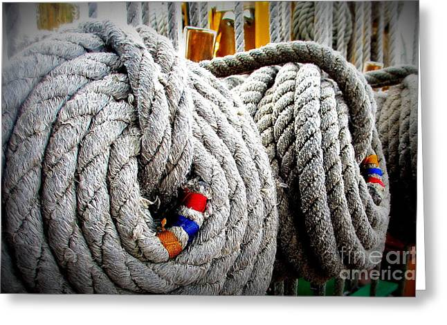 Fleet Week - Ship's Ropes Greeting Card by Maria Scarfone