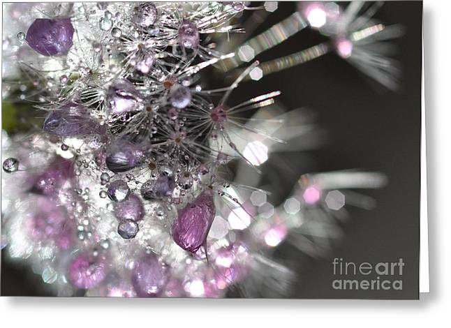 Fleur De Cristal Greeting Card by Sylvie Leandre