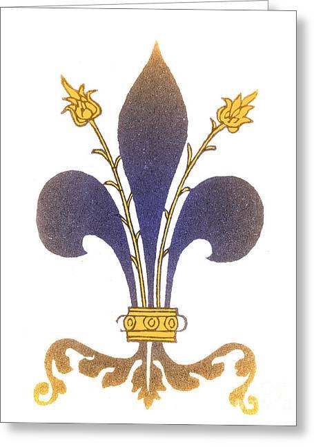 Fleur-de-lis Greeting Card by Science Source