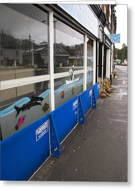 Flood Defences Greeting Card by Mark Williamson