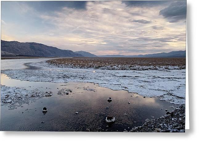 Flooded Salt Flat Greeting Card by Bob Gibbons