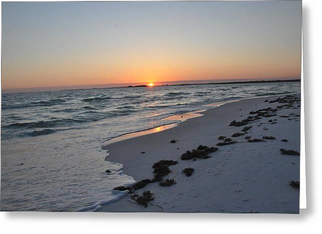 Florida Sunset Greeting Card by Vonda Barnett