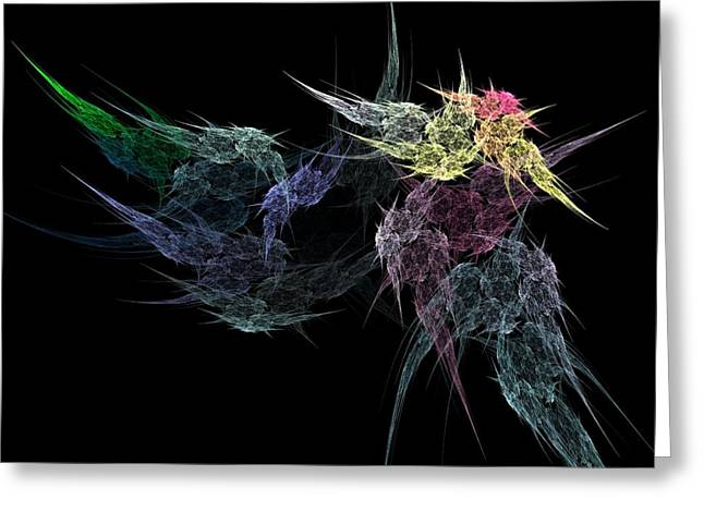 Flower In The Dark Greeting Card by Michele Caporaso