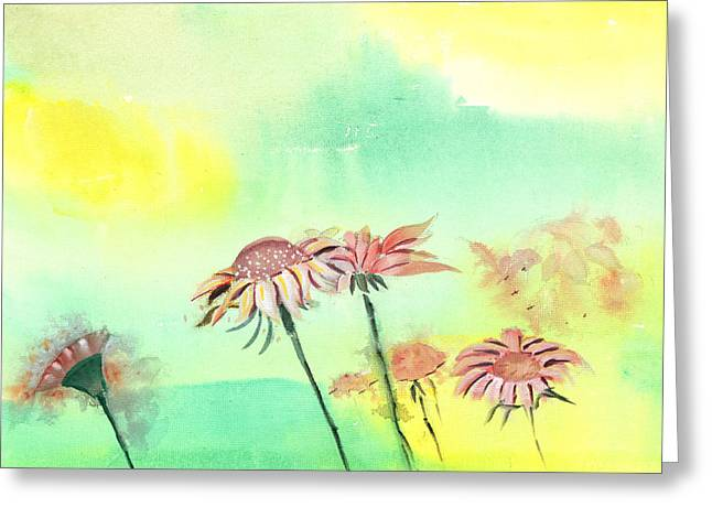Flowers 2 Greeting Card by Anil Nene