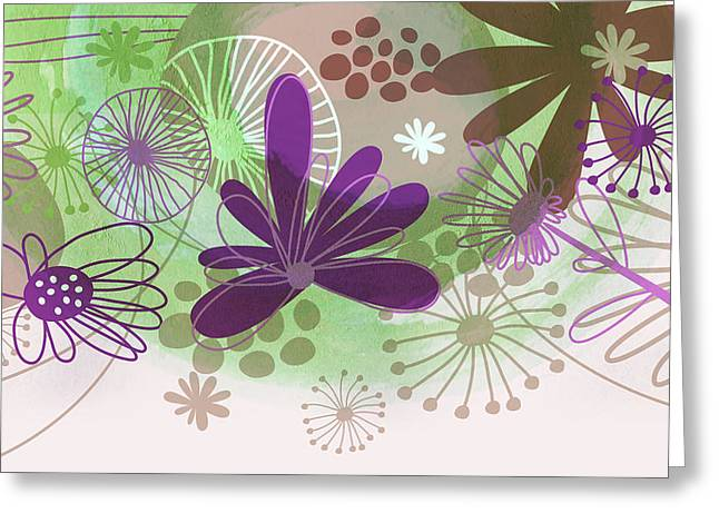 Flowers Of Nature Greeting Card by Nomi Elboim