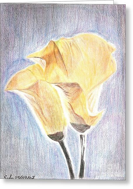 Flowers Greeting Card by Safa Al-Rubaye