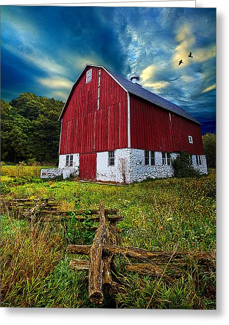 Fly Over Country Greeting Card