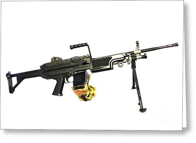 Fn Minimi 5.56mm Light Machine Gun Greeting Card