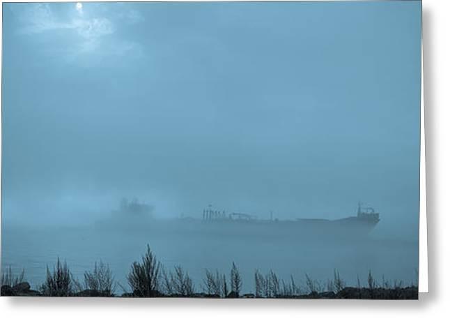 Foggy Morn Greeting Card by David Bishop