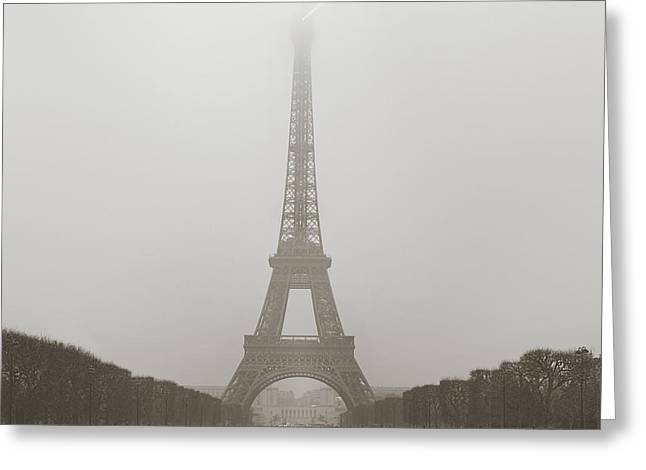 Foggy Morning In Paris Greeting Card