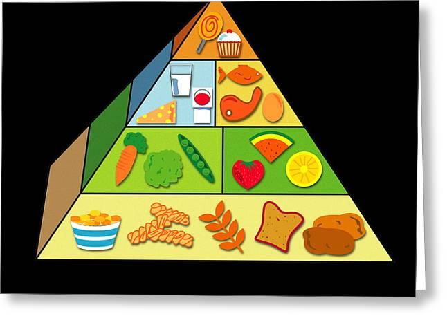 Food Pyramid Greeting Card by David Nicholls
