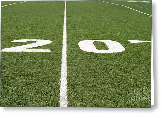Greeting Card featuring the photograph Football Field Twenty by Henrik Lehnerer