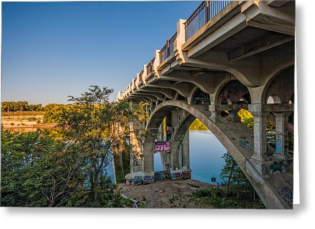 Greeting Card featuring the photograph Ford Parkway Bridge by Tom Gort