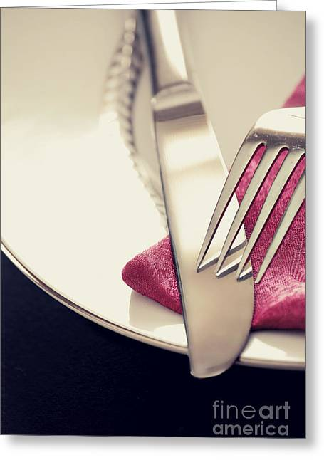 Fork And Knife Greeting Card
