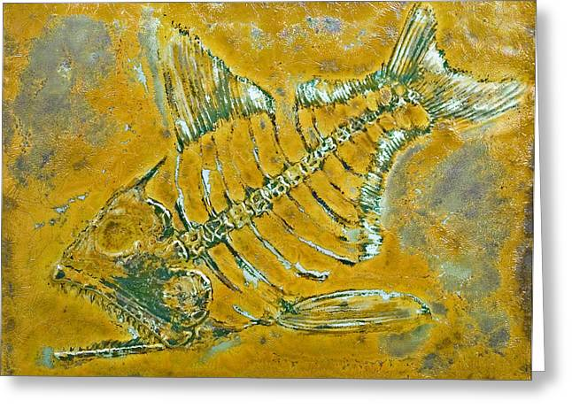 Fossil Fish Greeting Card by Bruce Gholson