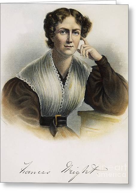 Frances Wright (1795-1852) Greeting Card by Granger