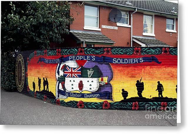 Freedom Corner Mural Belfast Greeting Card