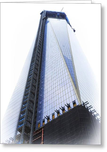 Freedom Tower Greeting Card by Vicki Jauron