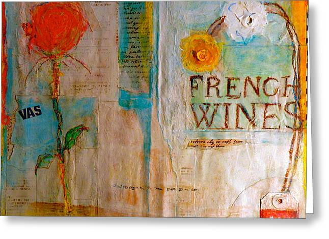 French Wines II Greeting Card by Nancy Belle