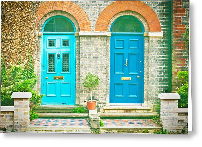 Front Doors Greeting Card by Tom Gowanlock