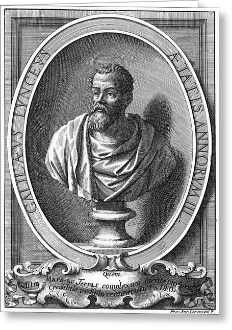 Galileo Galilei, Italian Astronomer Greeting Card by Humanities & Social Sciences Librarynew York Public Library