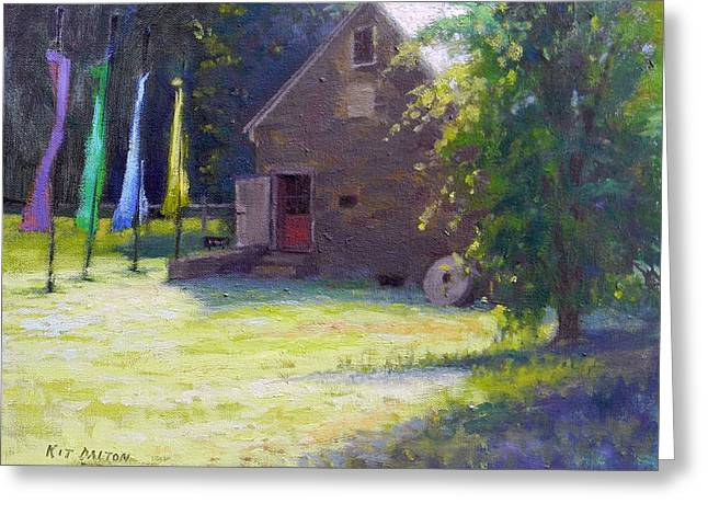 Gallery At Prallsville Mill Greeting Card by Kit Dalton