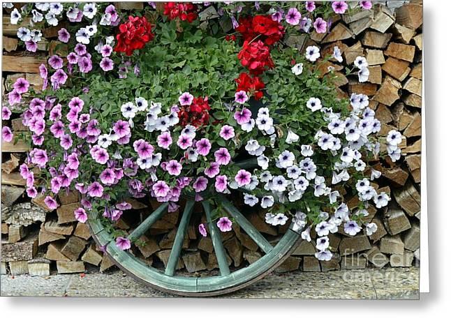 Garden Decor Greeting Card by Elzbieta Fazel