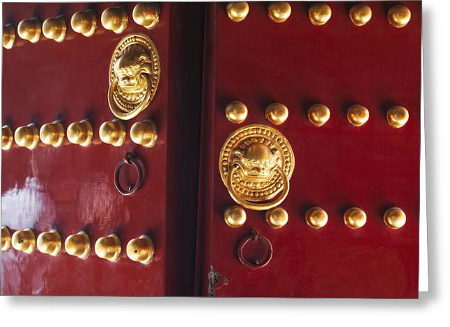 Gate To Temple Of Heaven Greeting Card by George Oze