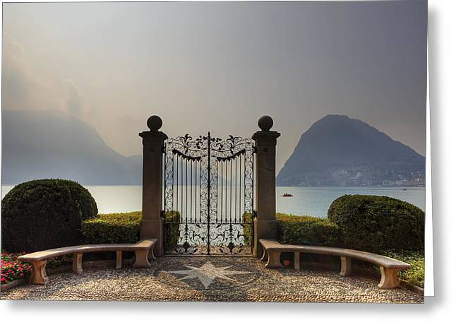 Gateway To The Lake Of Lugano Greeting Card by Joana Kruse