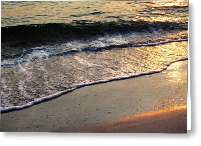 Gentle Tide Greeting Card by Angela Rath
