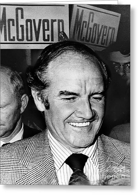 George Mcgovern (1922- ) Greeting Card by Granger