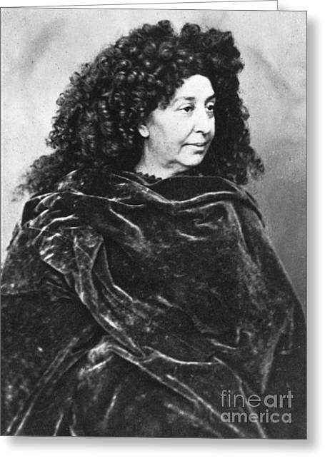 George Sand, French Author And Feminist Greeting Card by Photo Researchers