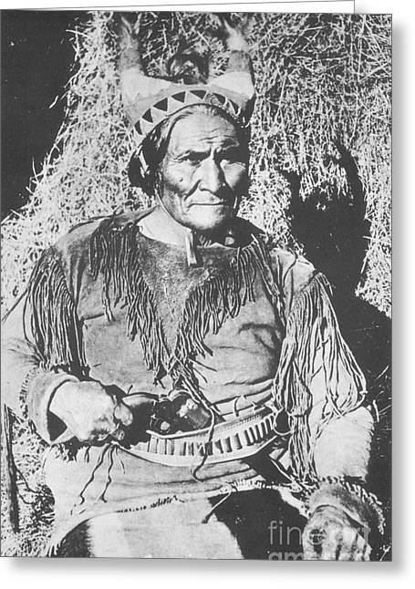 Geronimo, Native American Apache War Greeting Card by Photo Researchers