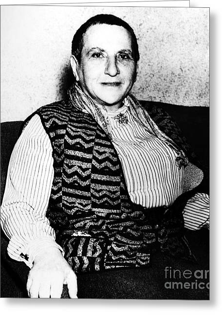 Gertrude Stein (1874-1946) Greeting Card by Granger