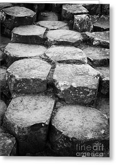 Giants Causeway Stones Northern Ireland Greeting Card by Joe Fox