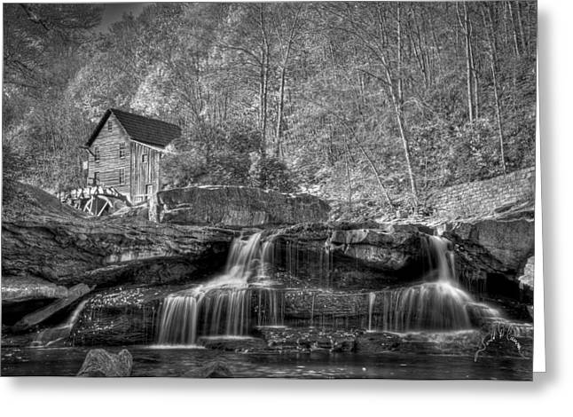 Glade Creek Grist Mill At Babcock Greeting Card by Williams-Cairns Photography LLC