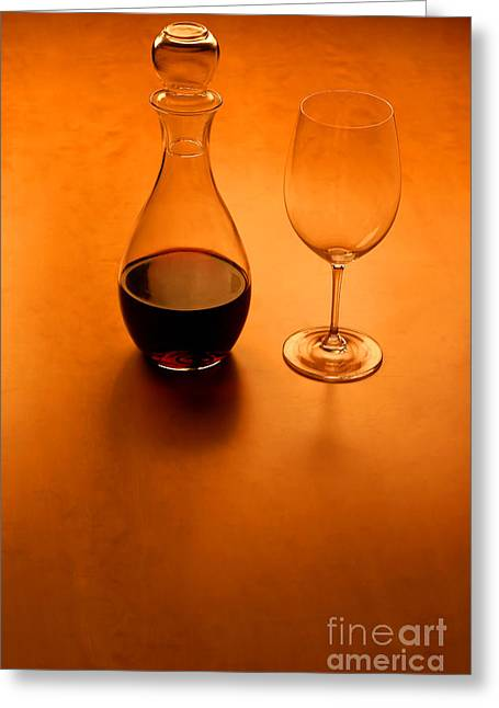 Glas And Wine  Greeting Card by Kristian Peetz